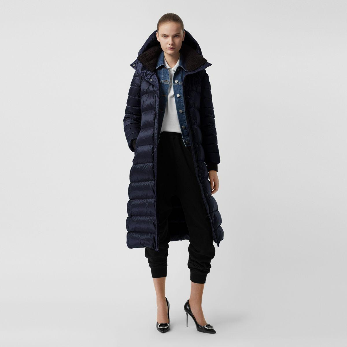 fee81204fcbb00 Lyst - Burberry Down-filled Hooded Puffer Coat in Blue
