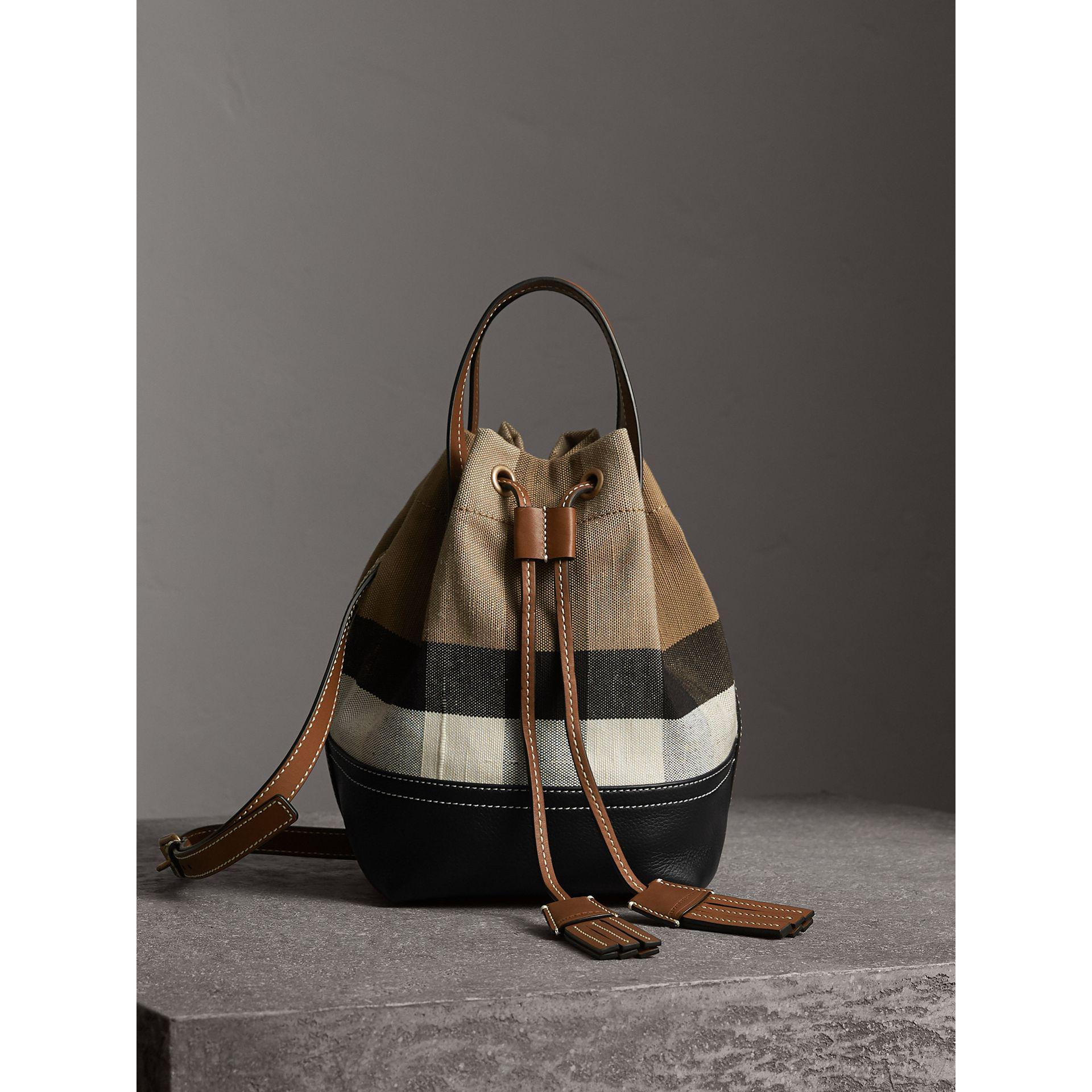 59840175714e Burberry canvas check and leather backpack fenix toulouse handball jpg  1920x1920 Burberry leather duffel with