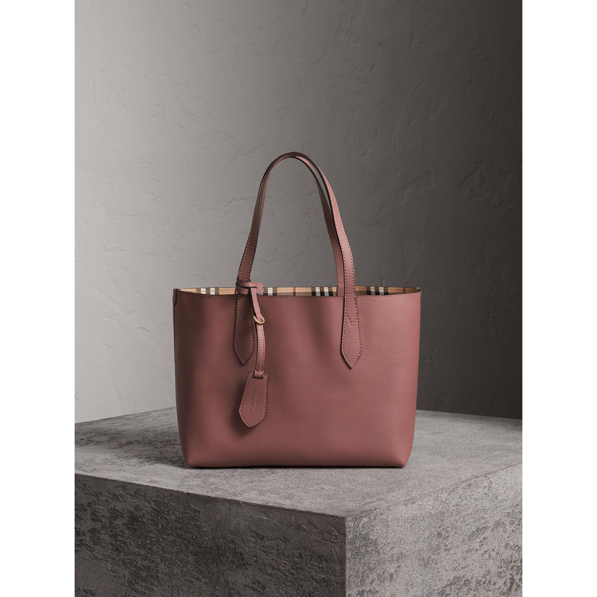 3a9e642a32e5 Lyst - Burberry The Small Reversible Tote In Haymarket Check And ...