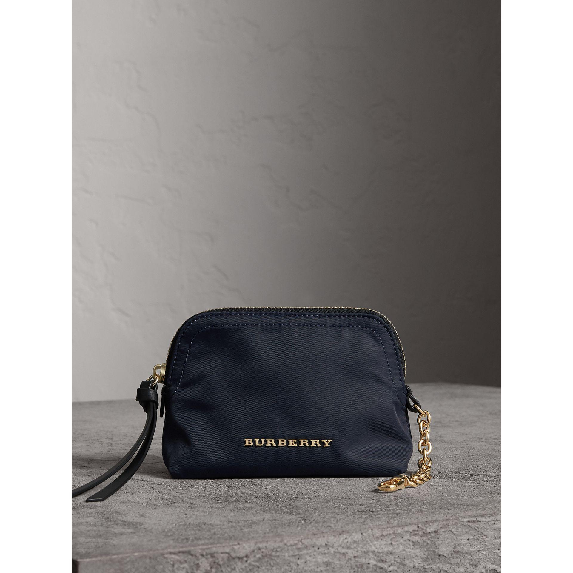 854d9ecd88 Burberry Small Zip-top Technical Nylon Pouch Ink Blue in Blue - Lyst: