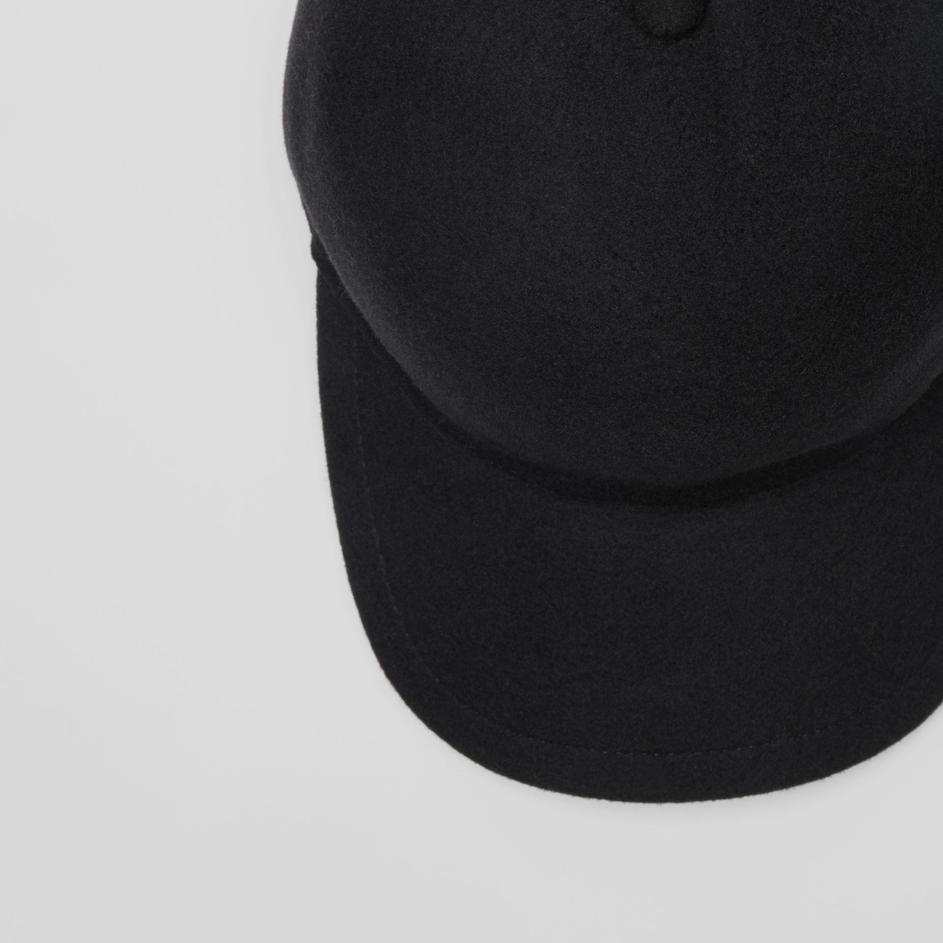 acfd770d5da Burberry - Black Felted Wool Baseball Cap for Men - Lyst. View fullscreen