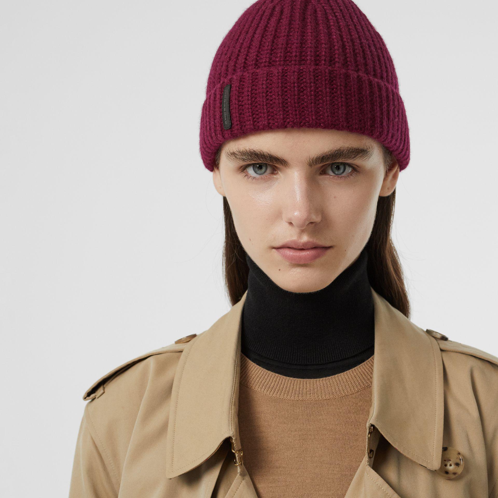 e11e5d11420 Burberry - Multicolor Rib Knit Cashmere Beanie for Men - Lyst. View  fullscreen