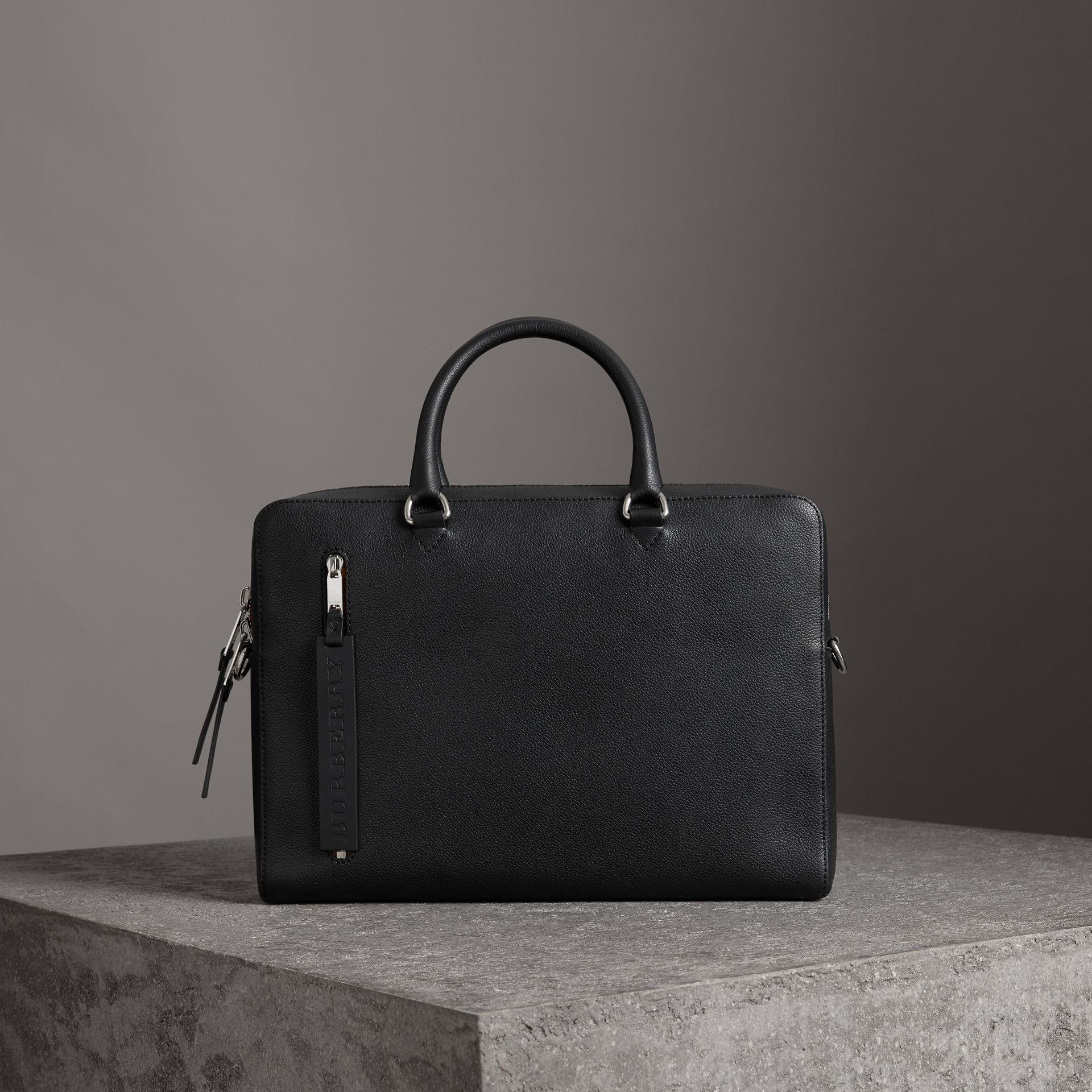 537a281bc817 Burberry Grainy Leather Briefcase in Black for Men - Lyst