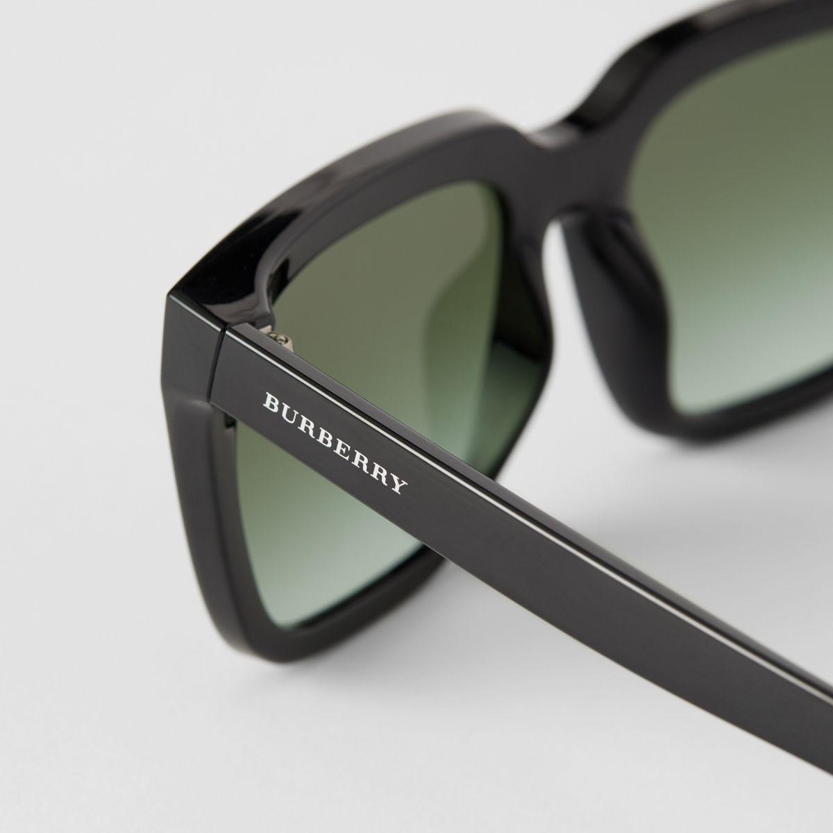 da217fc746bf Burberry - Black Square Frame Shield Sunglasses - Lyst. View fullscreen