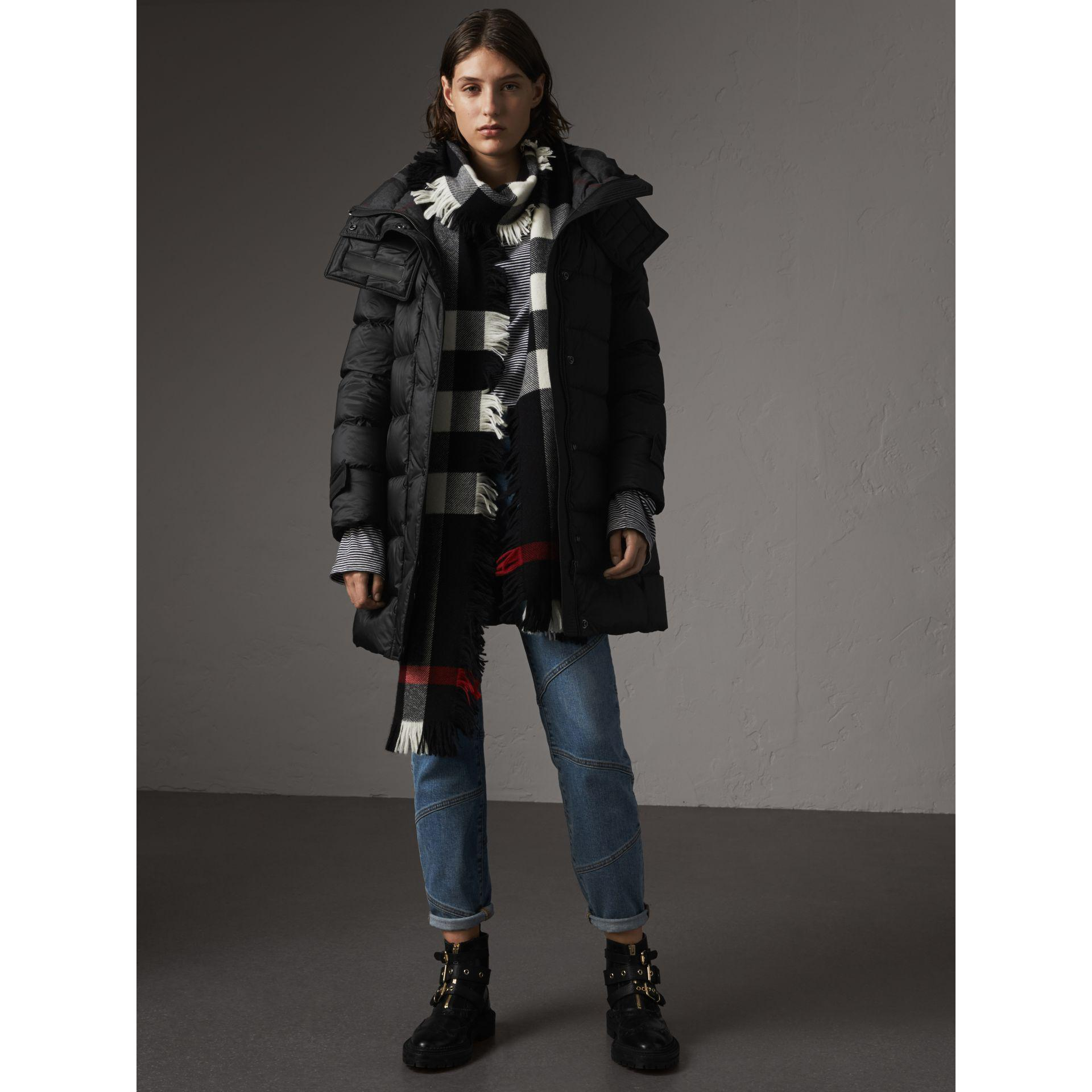 19ce784ef53f Lyst - Burberry Detachable Hooded Down-filled Puffer Coat in Black