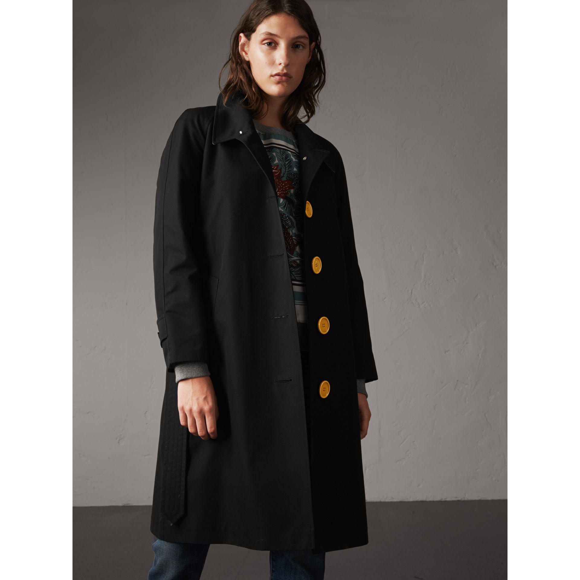 Lyst Burberry Resin Button Cotton Gabardine Trench Coat