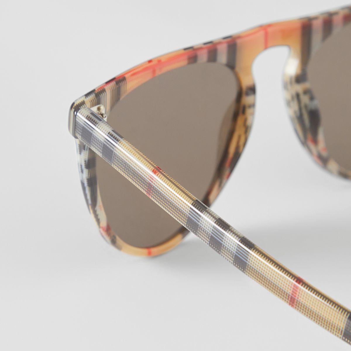 Burberry - Multicolor Vintage Check Keyhole D-shaped Sunglasses for Men -  Lyst. View fullscreen 472355c072c