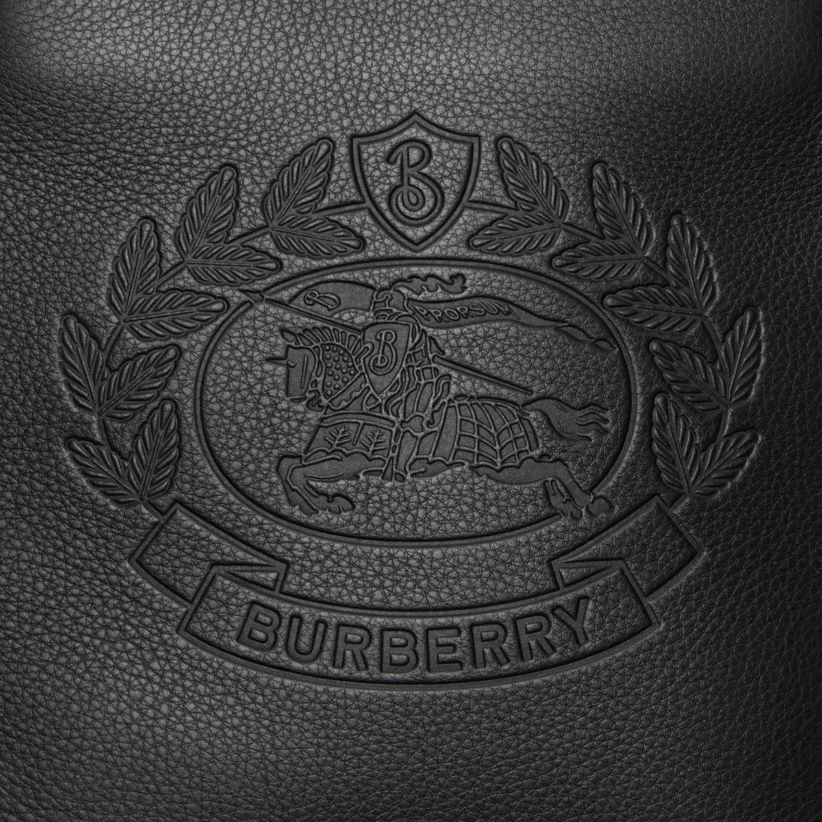 7767a9320f99 Burberry - Black Small Embossed Crest Leather Crossbody Bag for Men - Lyst.  View fullscreen