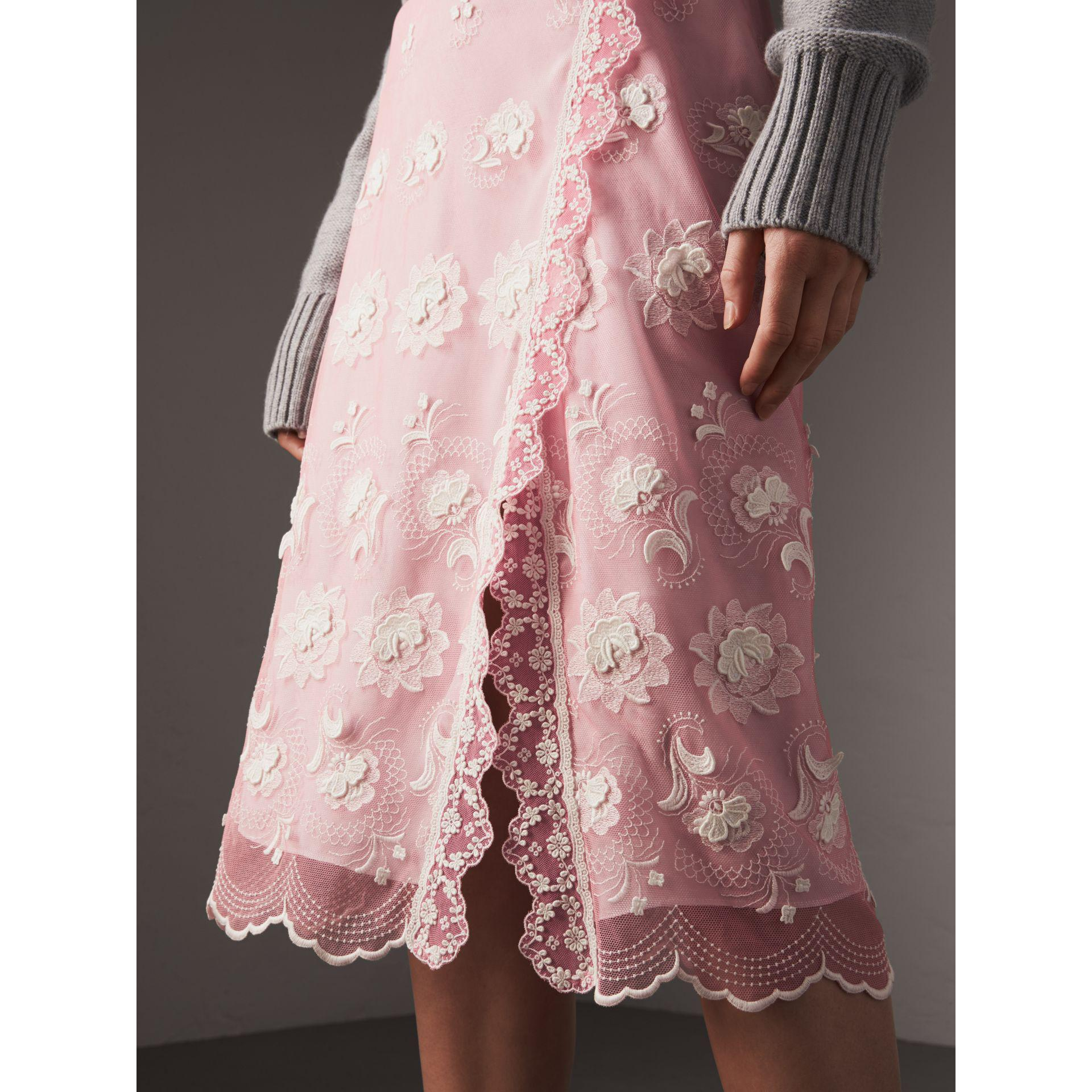 Lyst Burberry Chantilly Lace Trim Embroidered Tulle