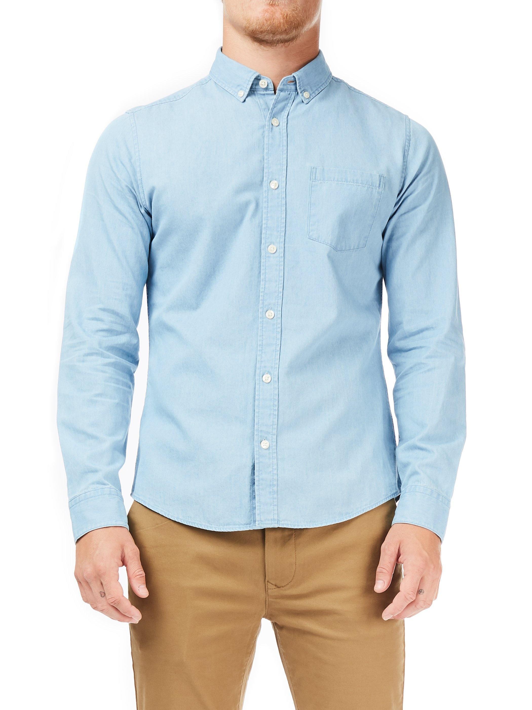 4a53ebe13e Burton Blue Light Wash Long Sleeves Denim Shirt in Blue for Men - Save 25%  - Lyst