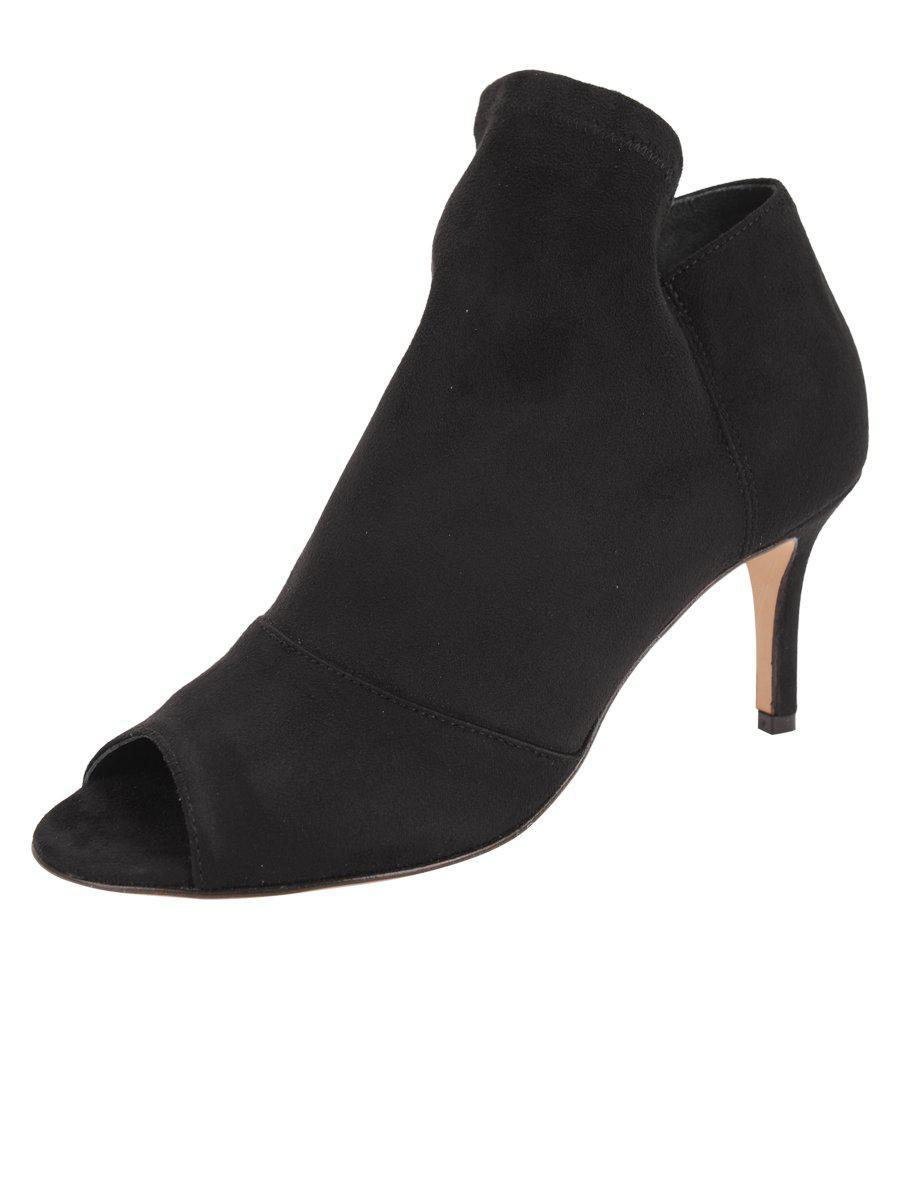 15c28179791 Lyst - Butter Shoes Geri Peep-toe Bootie in Black