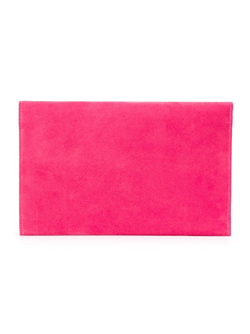 Lyst Jimmy Choo Rosetta Clutch In Pink
