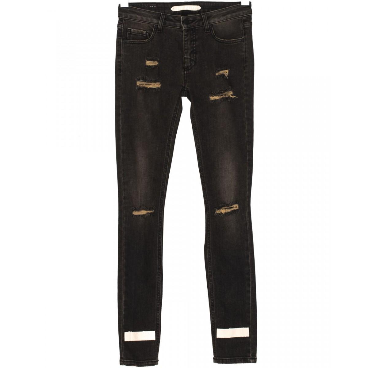 Off-white c/o virgil abloh Black Destroyed Skinny Fit Jeans 5 ...
