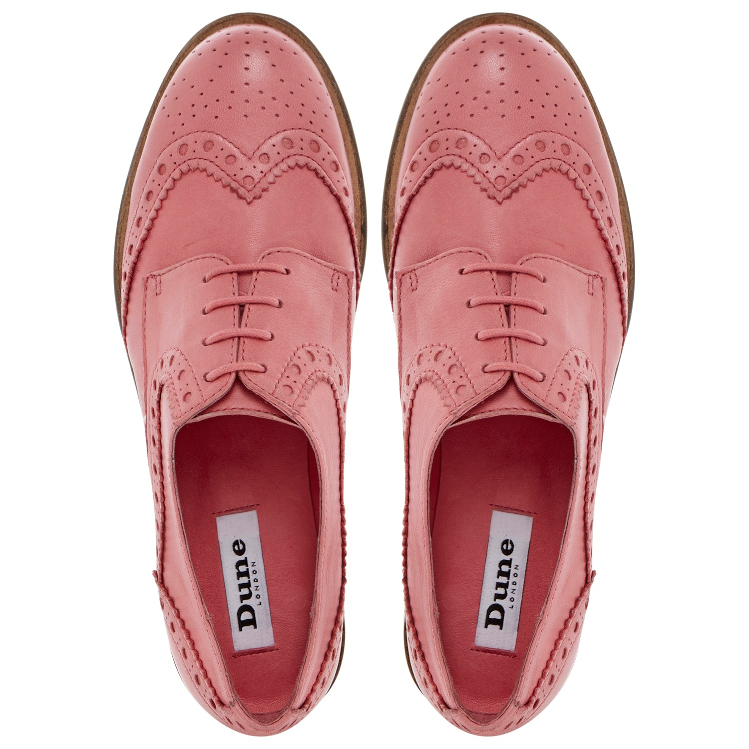 dune langbury brogue shoes in pink lyst