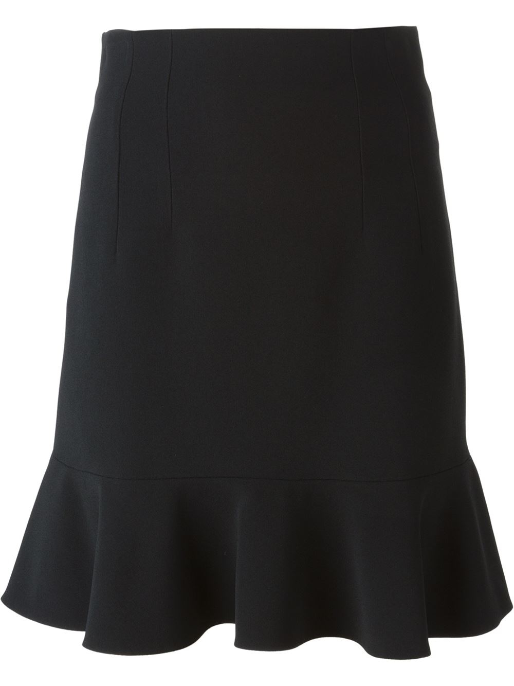 dolce gabbana ruffle hem skirt in black lyst. Black Bedroom Furniture Sets. Home Design Ideas