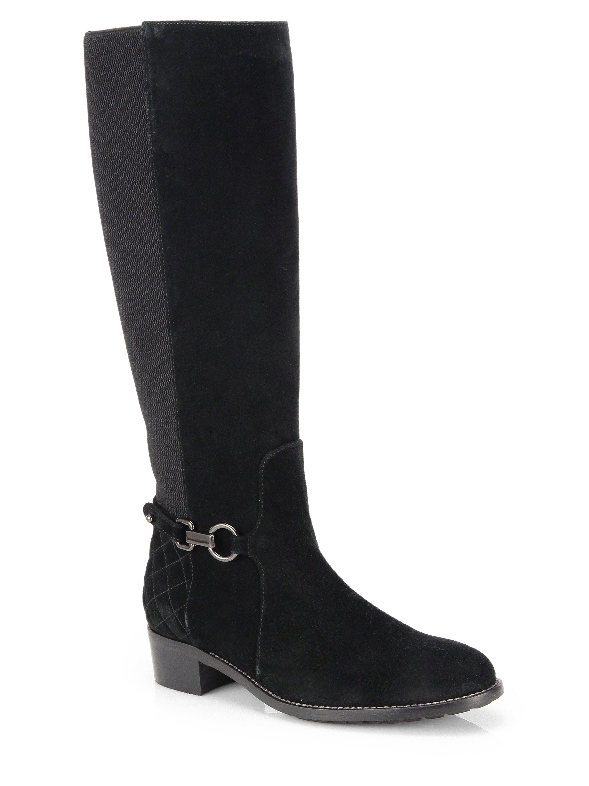 Aquatalia Suede And Fur Ankle Boots In Brown Lyst