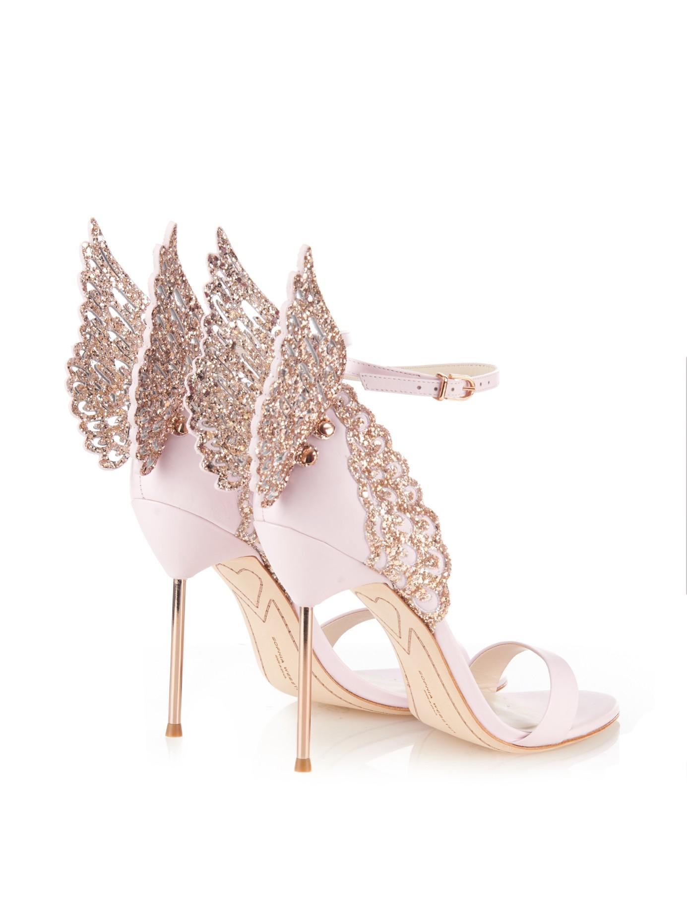Evangeline angel-wing leather sandals Sophia Webster OVGBPPpPwS
