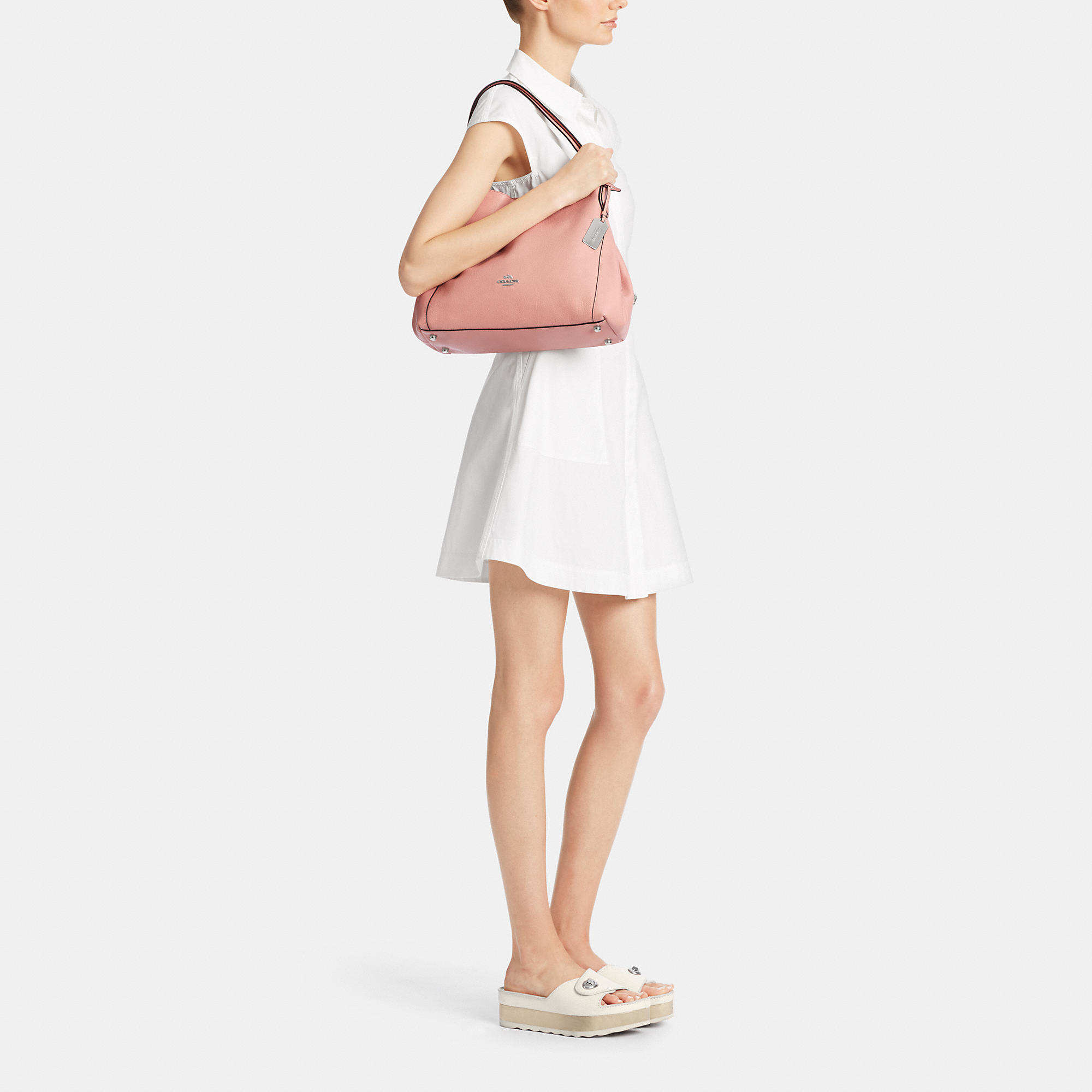 Lyst - COACH Edie Shoulder Bag 31 In Refined Pebble Leather 0d2f24bae3