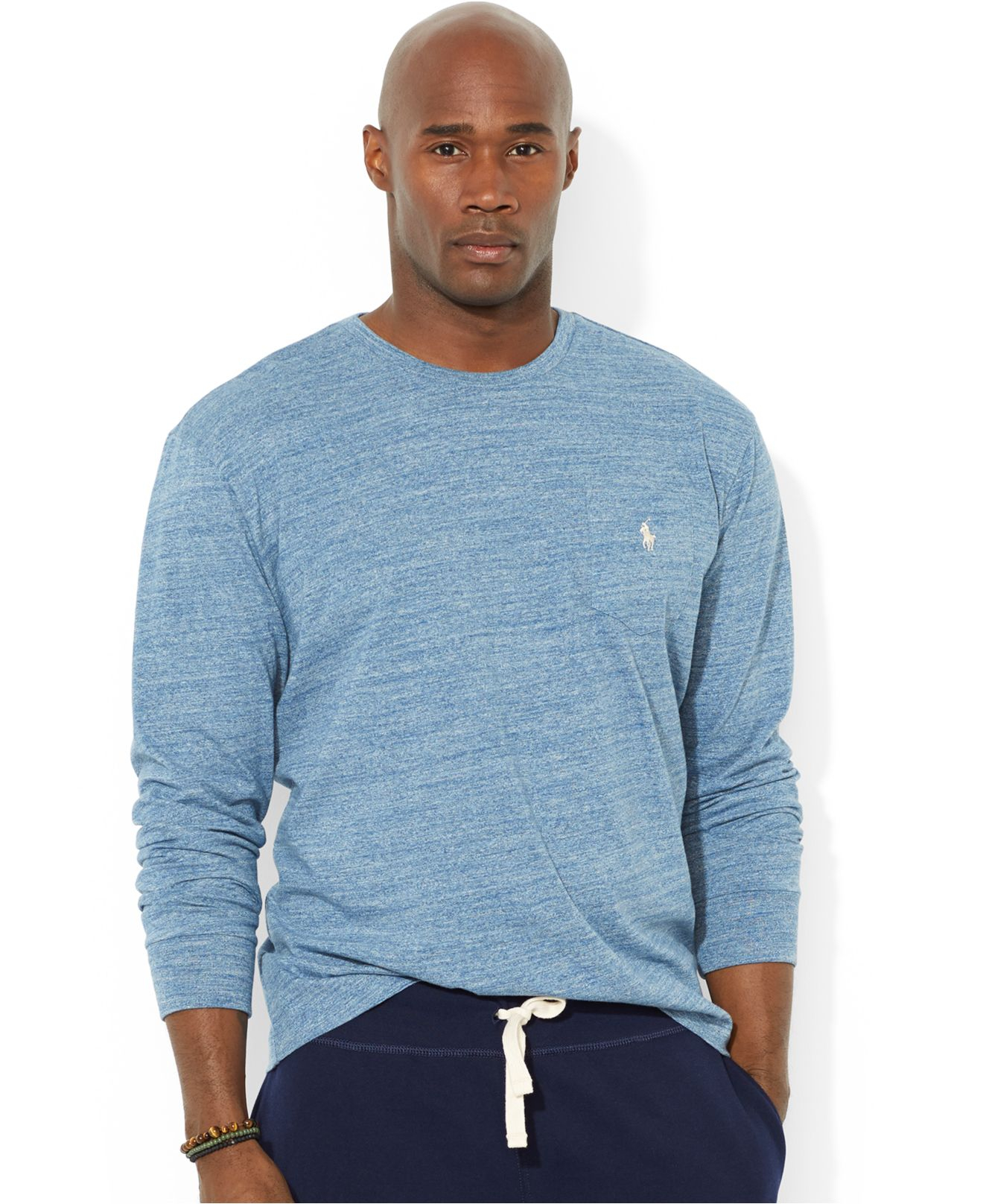 Lyst - Polo Ralph Lauren Big And Tall Crew-Neck Pocket T-Shirt in Blue for  Men