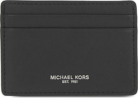ac701d24441 Lyst - Michael Kors Soft Leather Card Holder in Black for Men