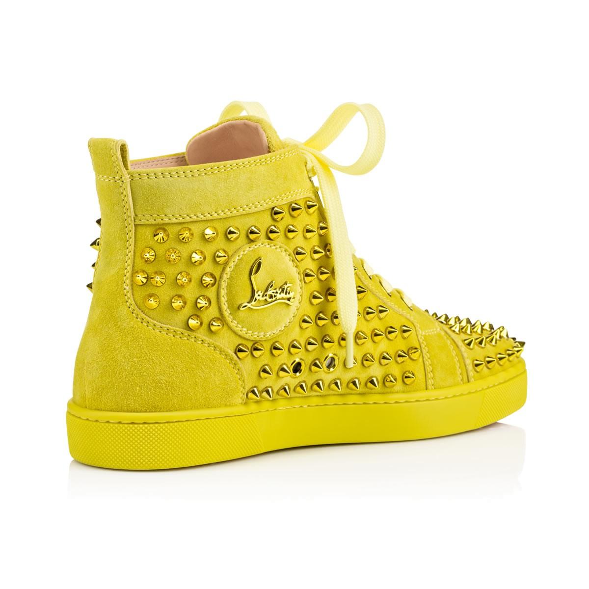 Lyst - Christian Louboutin Louis Spikes Women S Flat in Yellow 7d6605d30