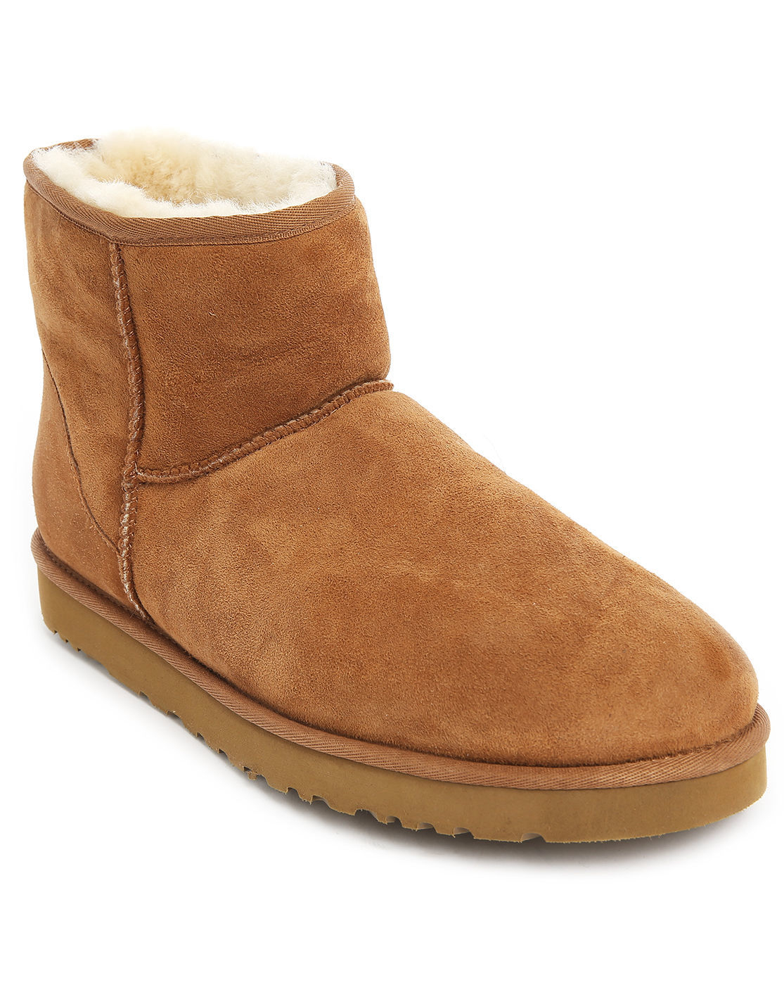 ugg classic mini beige boots in suede m in natural for men. Black Bedroom Furniture Sets. Home Design Ideas