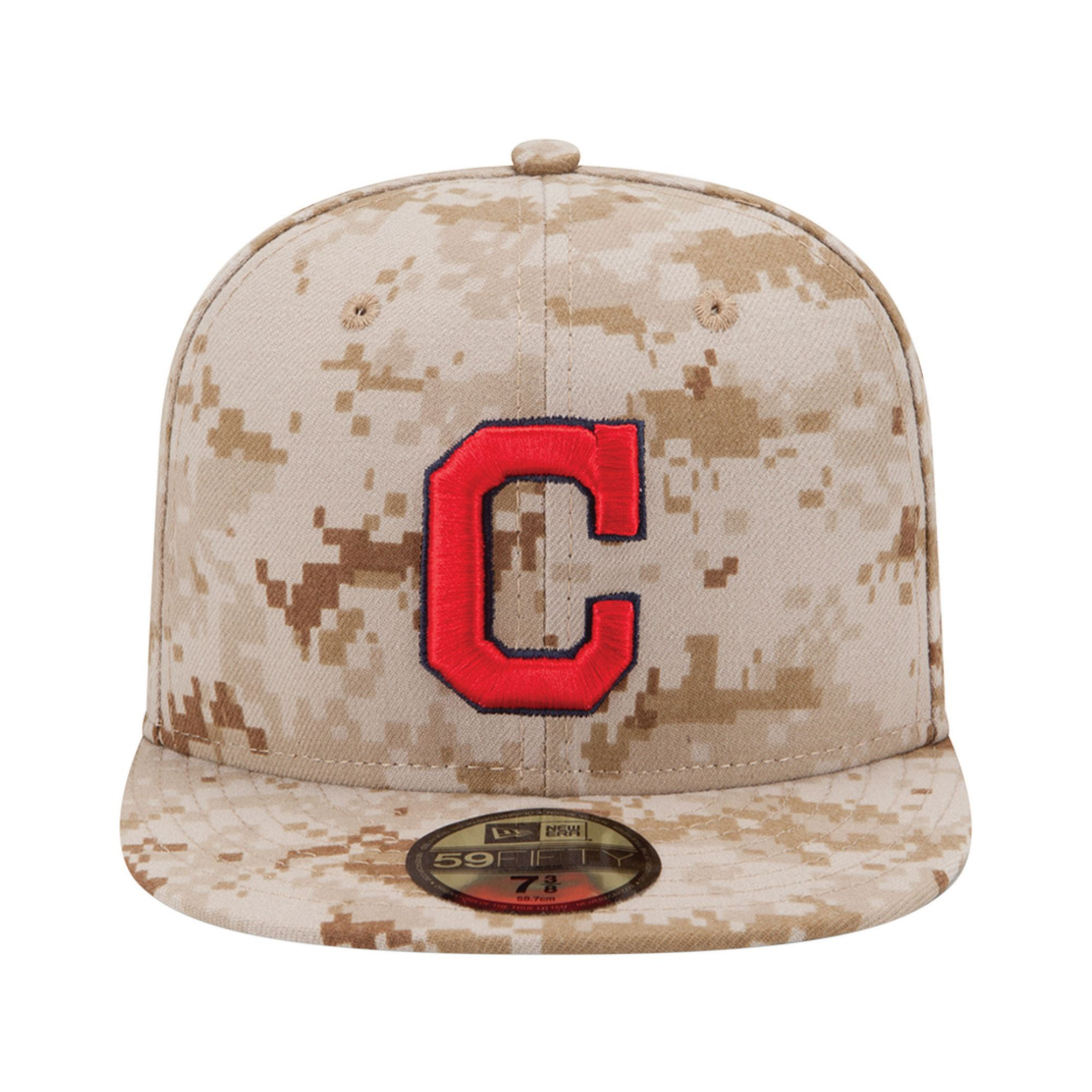 low priced 4b8da 175d4 ... switzerland lyst ktz cleveland indians mlb memorial day stars stripes 59fifty  cap in natural for men