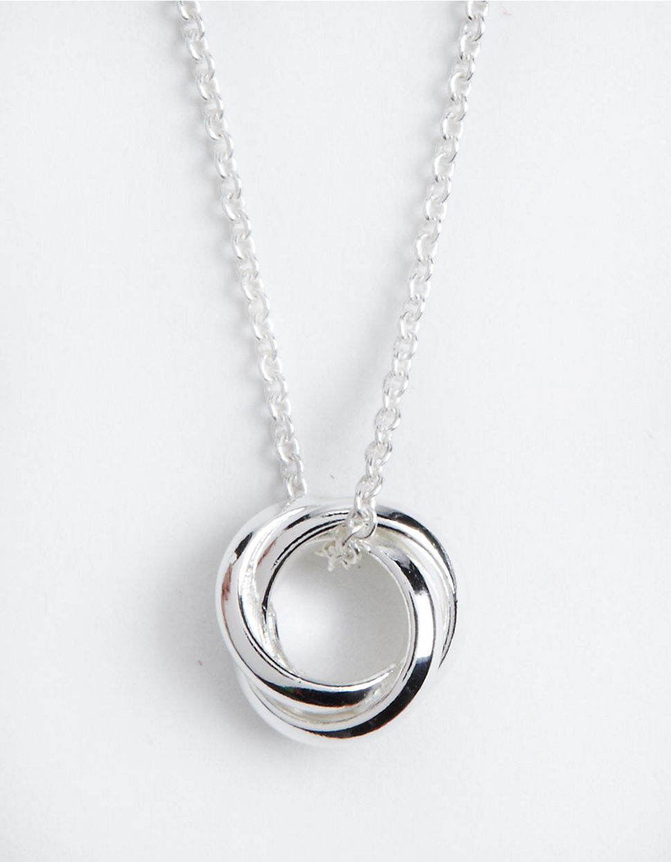 lord sterling silver three circle pendant