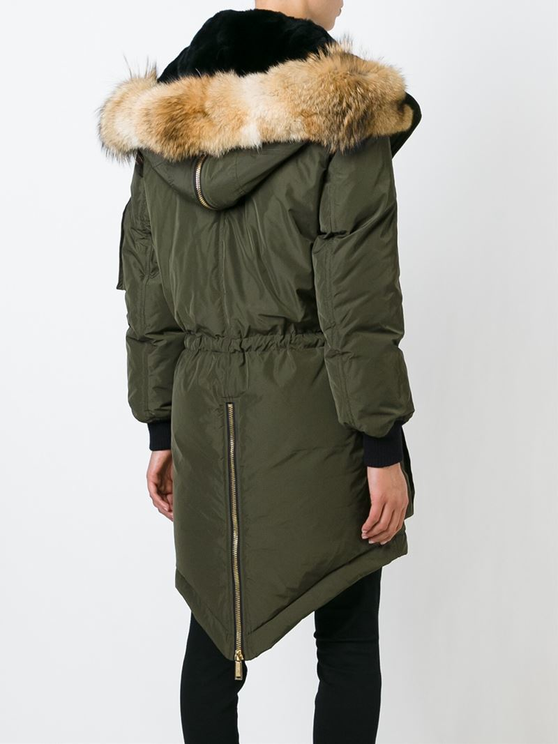 Dsquared² Hooded Padded Parka in Green | Lyst