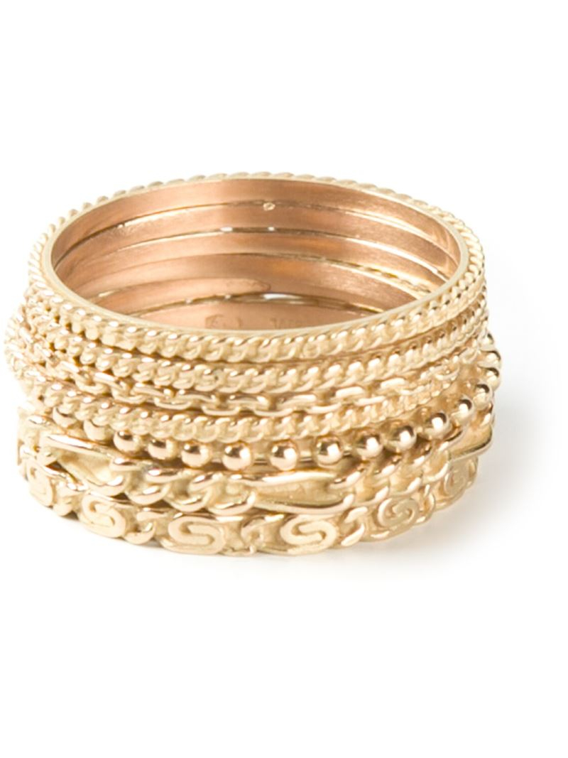 set of seven rings - Metallic Wouters & Hendrix D1sAp