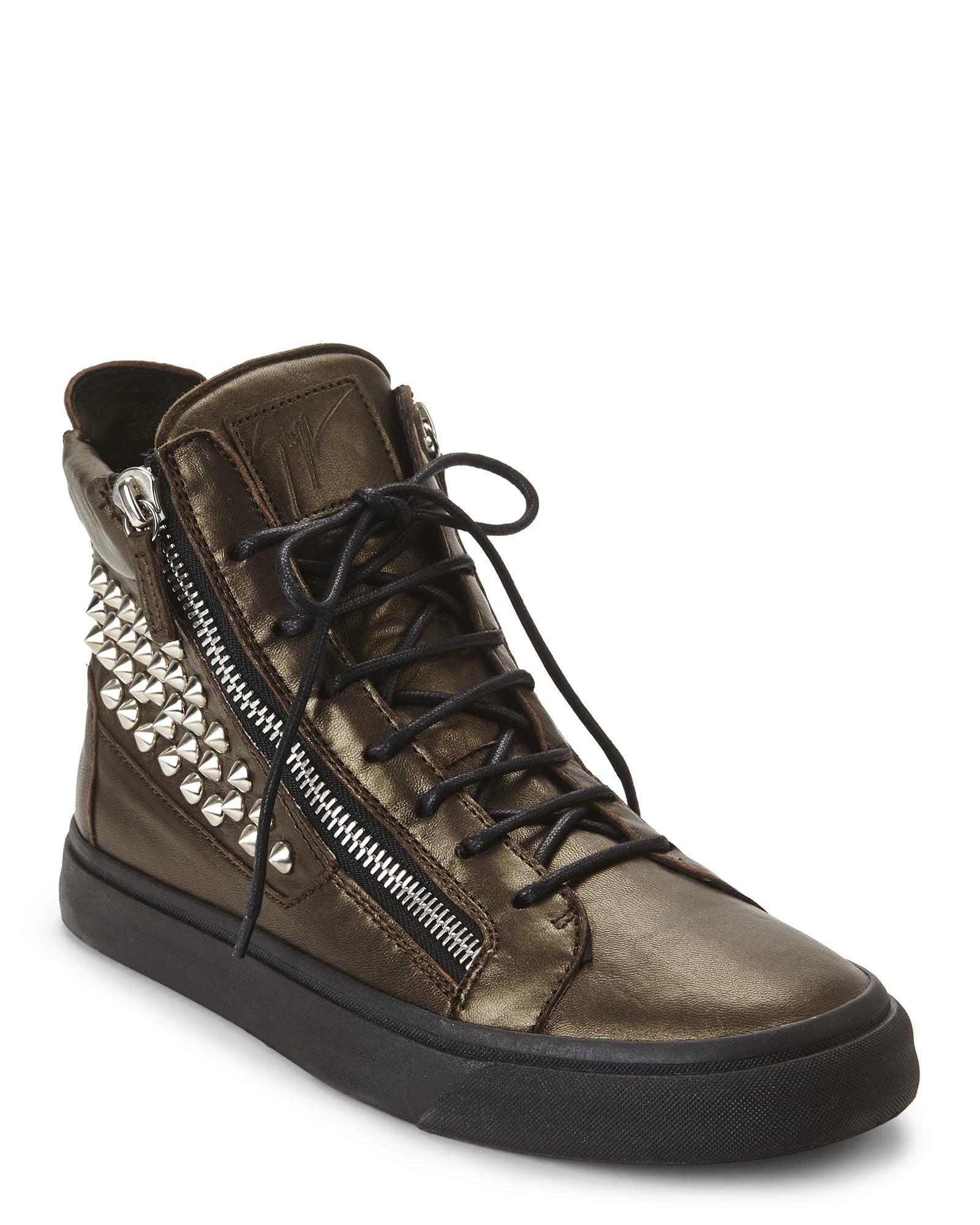 giuseppe zanotti studded sneakers