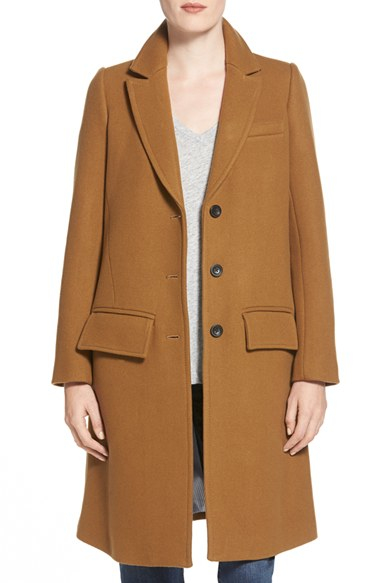 Madewell Single Breasted Trapeze Car Coat in Brown | Lyst
