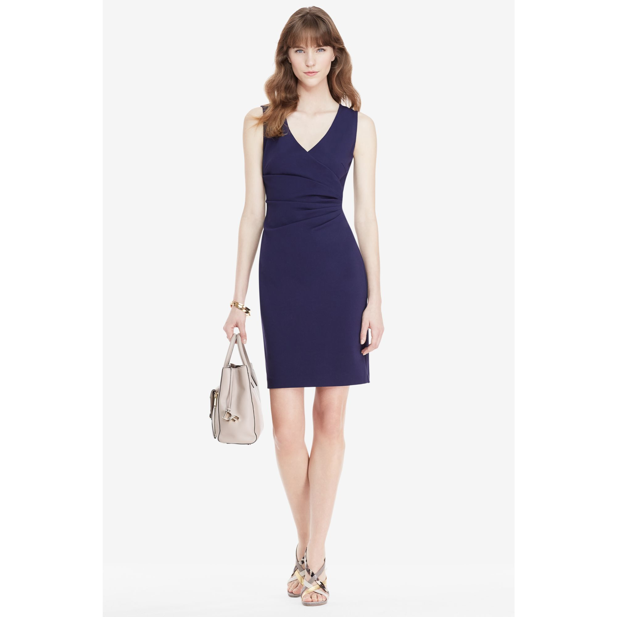 Lyst diane von furstenberg dvf layne ruched sheath dress for Diane von furstenberg clothes