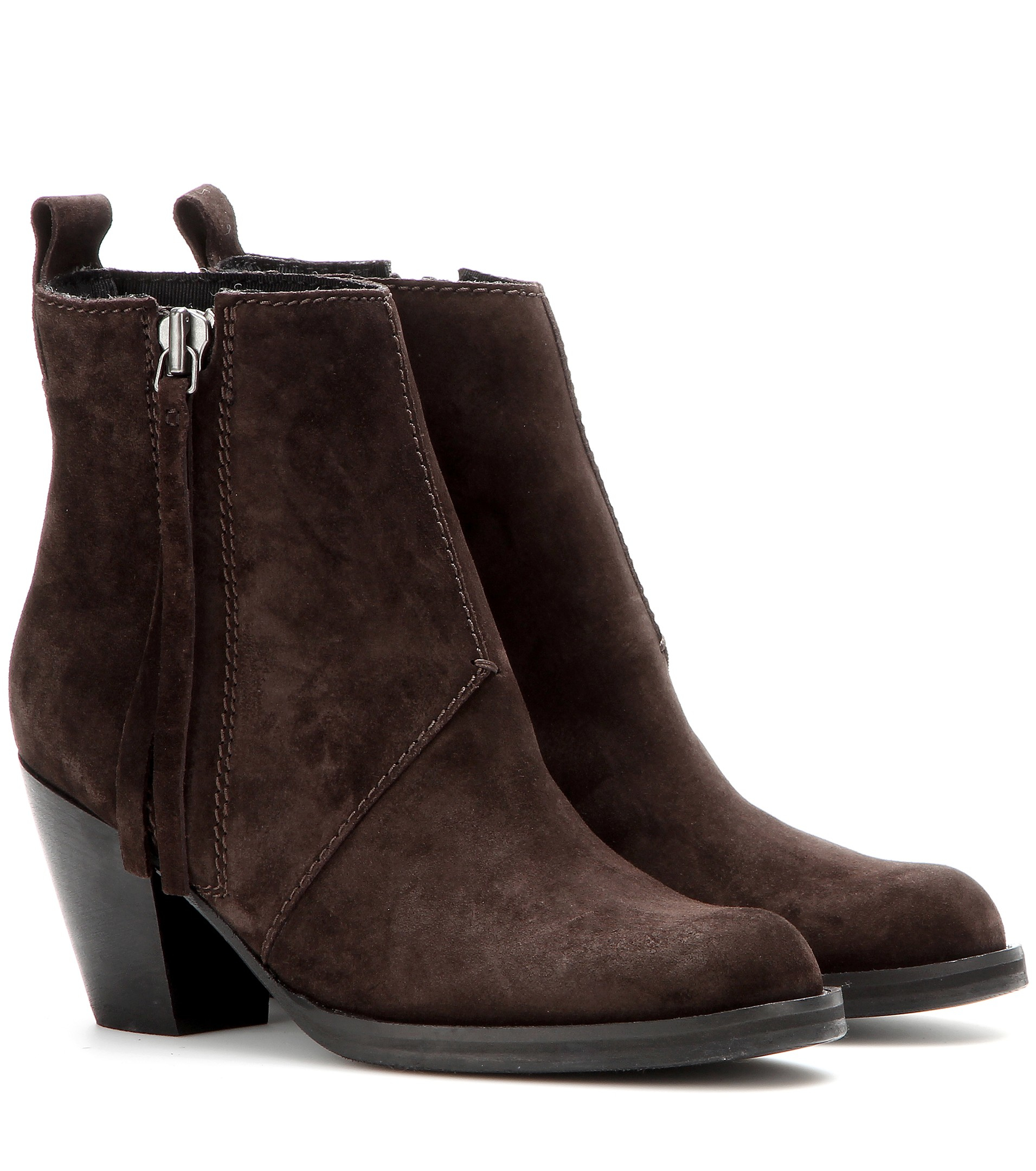 Acne studios Pistol Short Suede Ankle Boots in Brown | Lyst