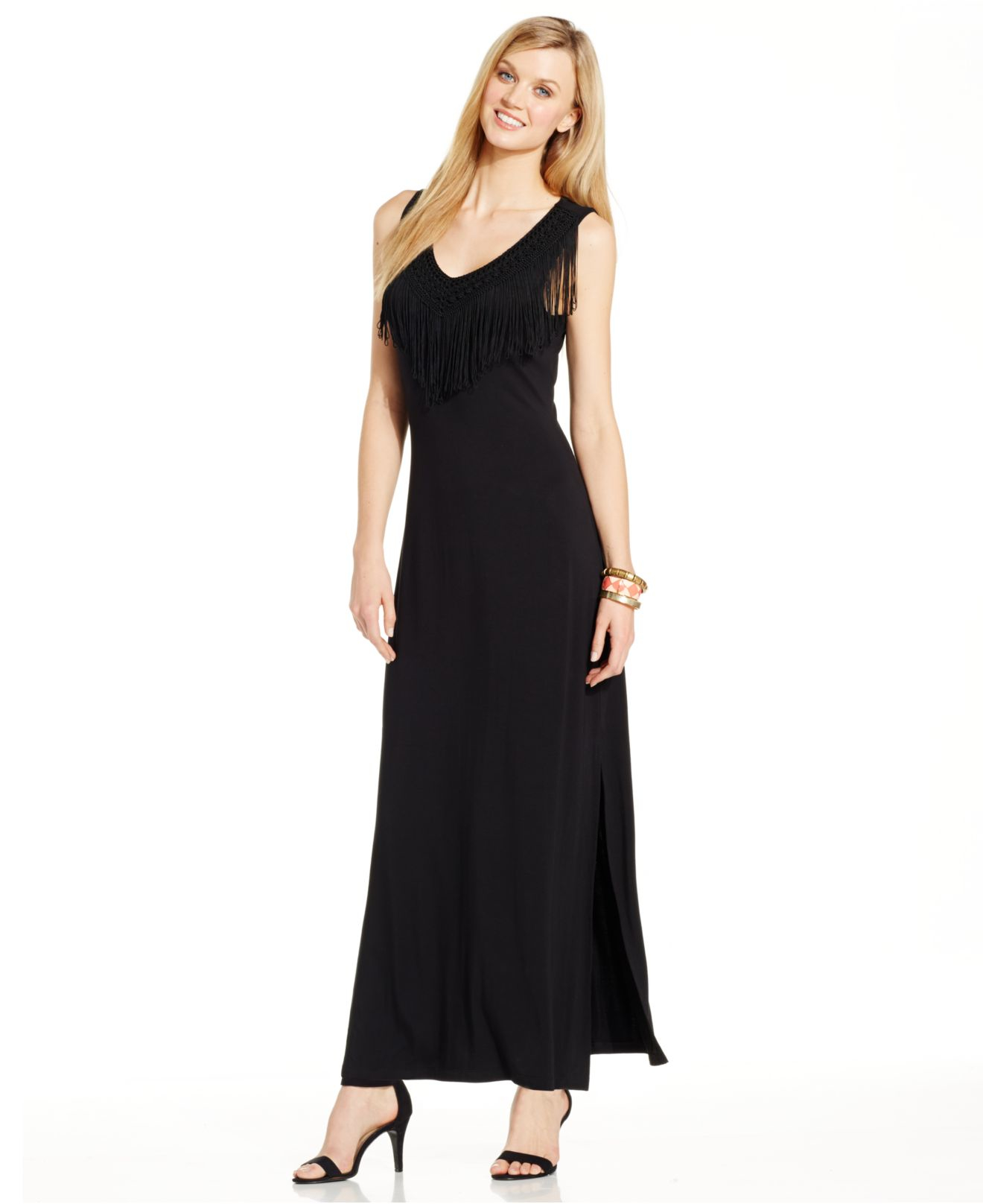 Spense black maxi dress