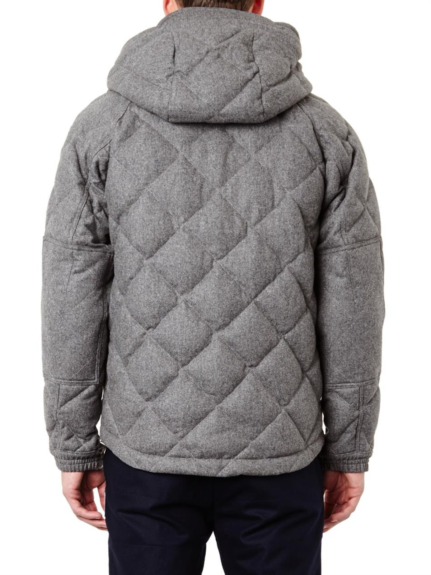 Moncler Harry Quilted Wool Flannel Coat In Gray For Men Lyst