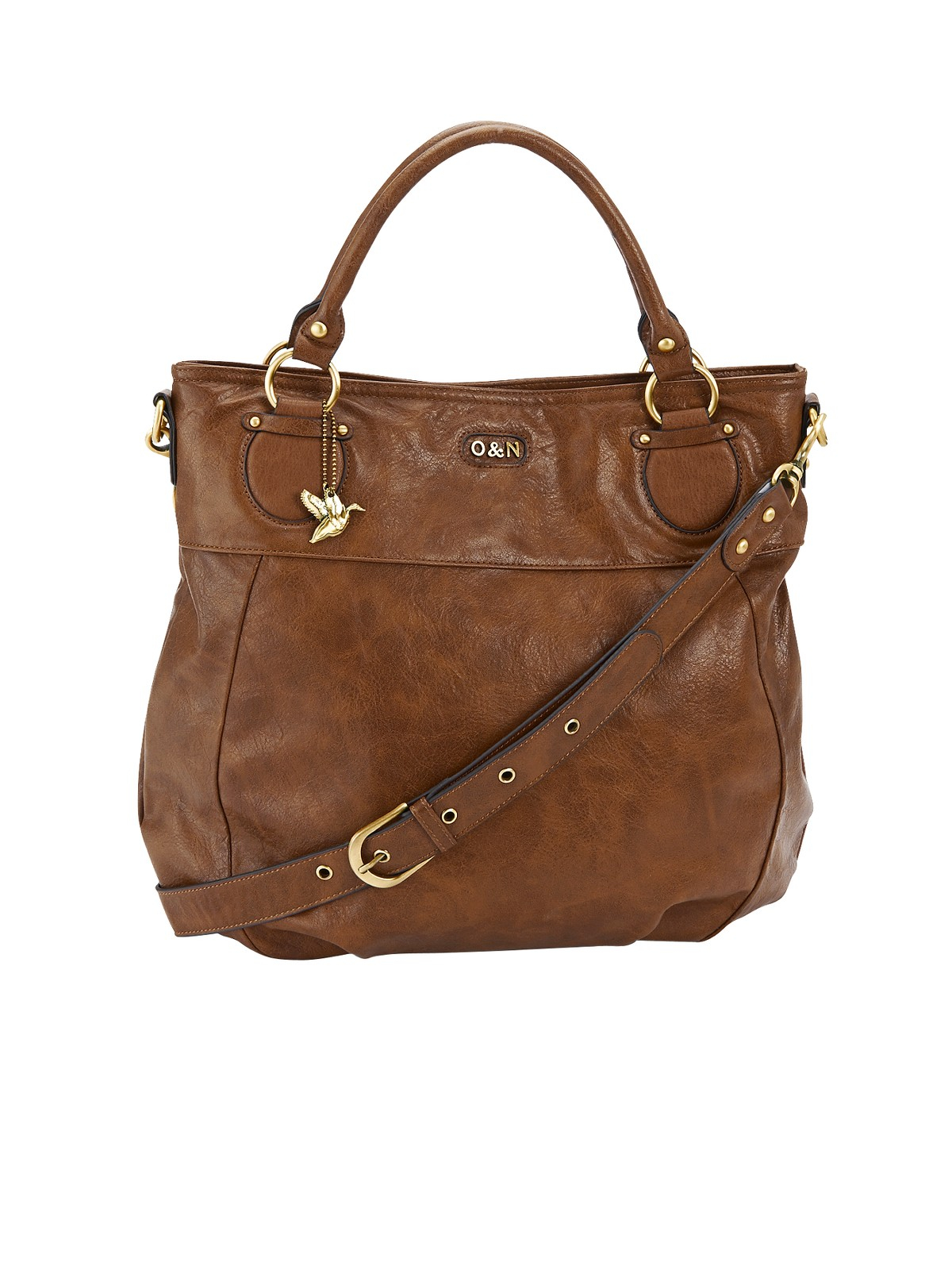 Moschino Slouchy Pleated Shoulder Bag Brown 8