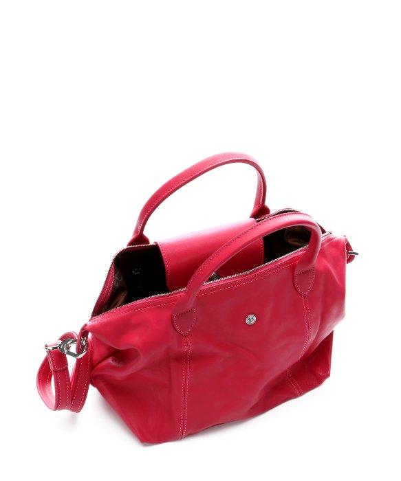 Longchamp bonbon leather le pliage cuir convertible small tote in pink lyst - Pliage serviette bonbon ...