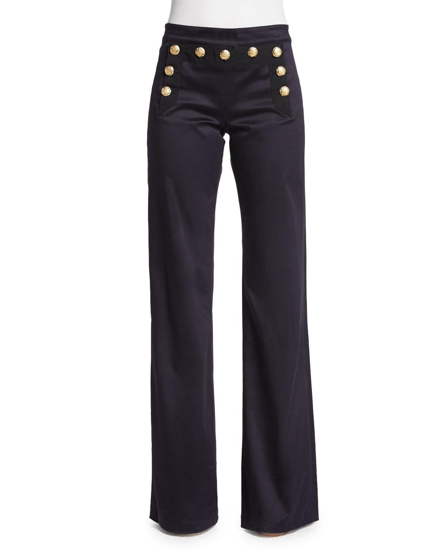 Veronica beard Wide-leg Sailor Pants in Blue