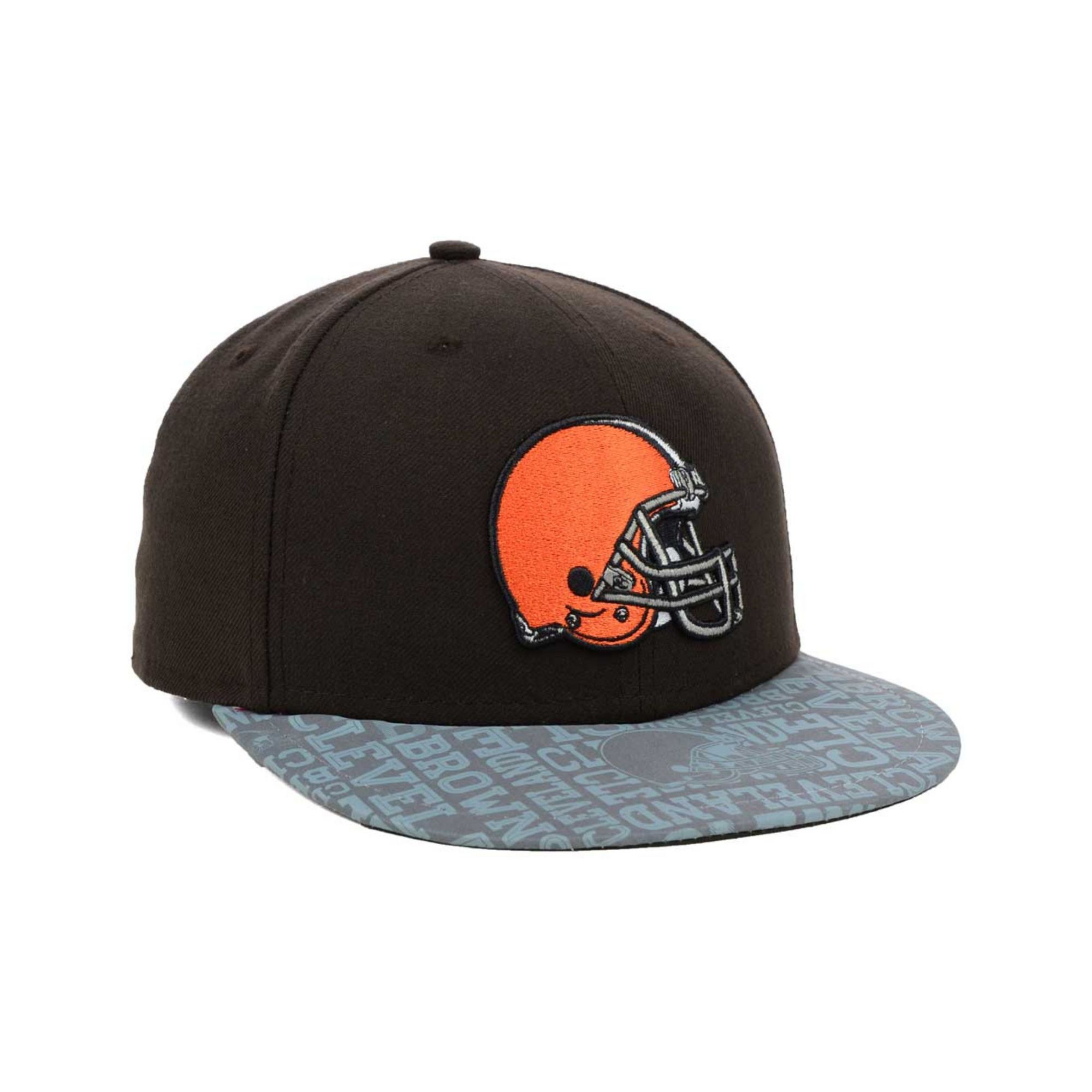 Ktz Cleveland Browns Nfl Draft 59fifty Cap in Black for Men (Brown ...