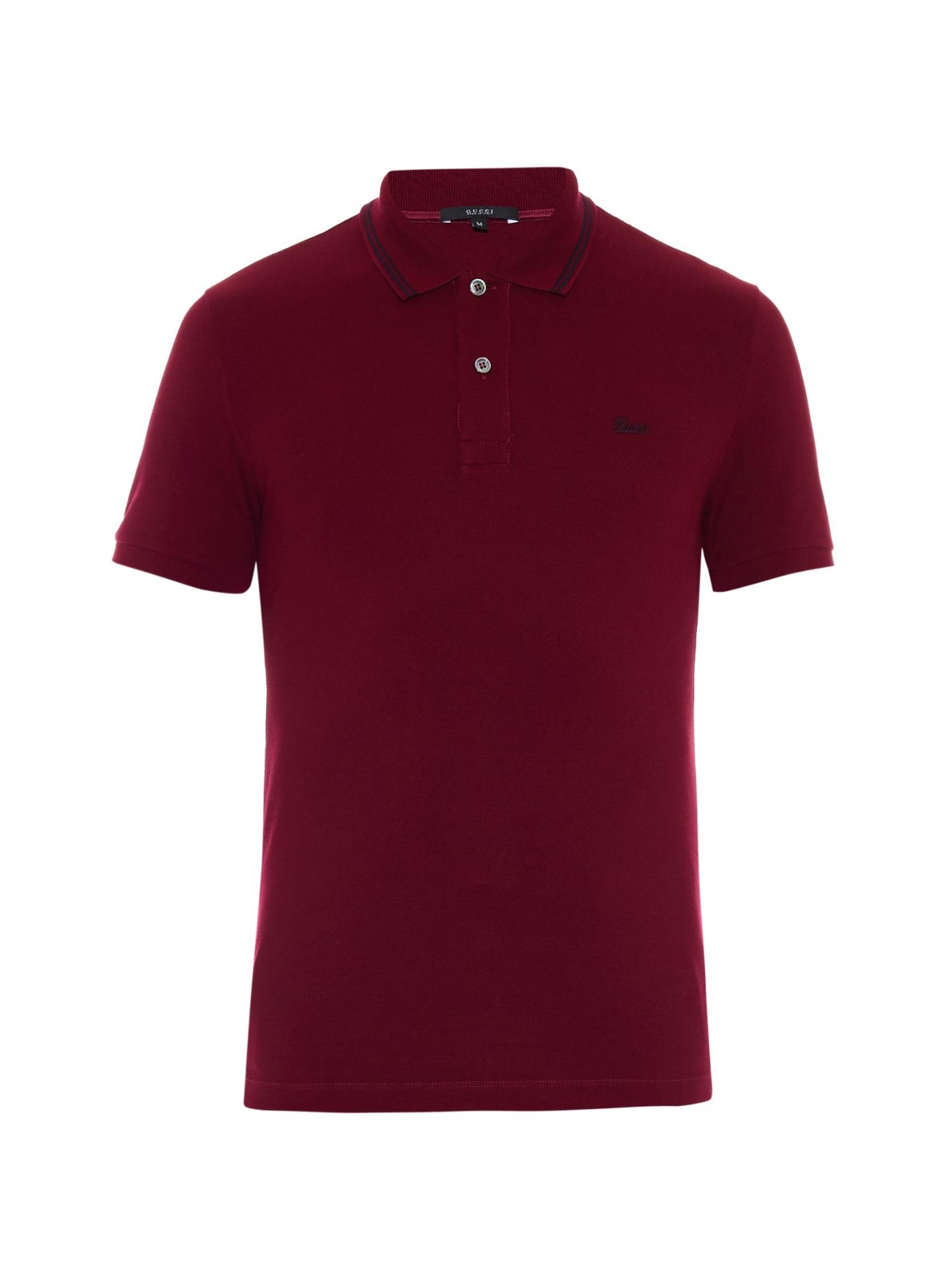 Lyst Gucci Striped Collar Polo Shirt In Purple For Men