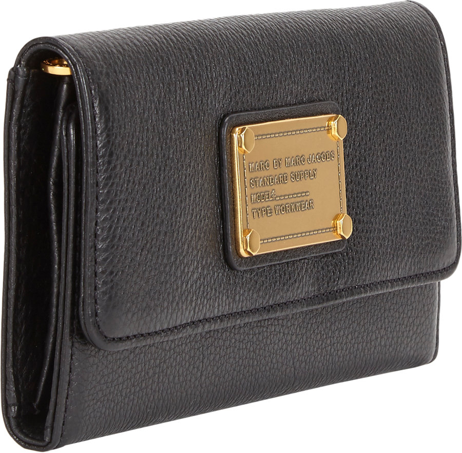 803a558db6 Marc By Marc Jacobs Classic Q Long Trifold Wallet in Black - Lyst