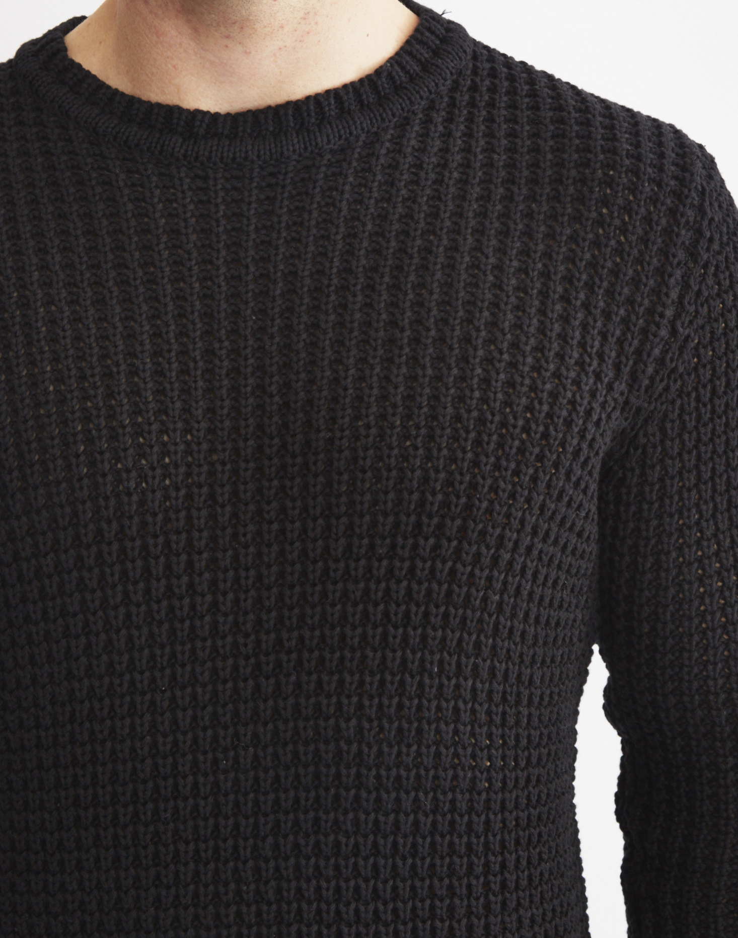 Lyst - Only   Sons Mens Knitted Jumper Black in Black for Men 893031fd3102