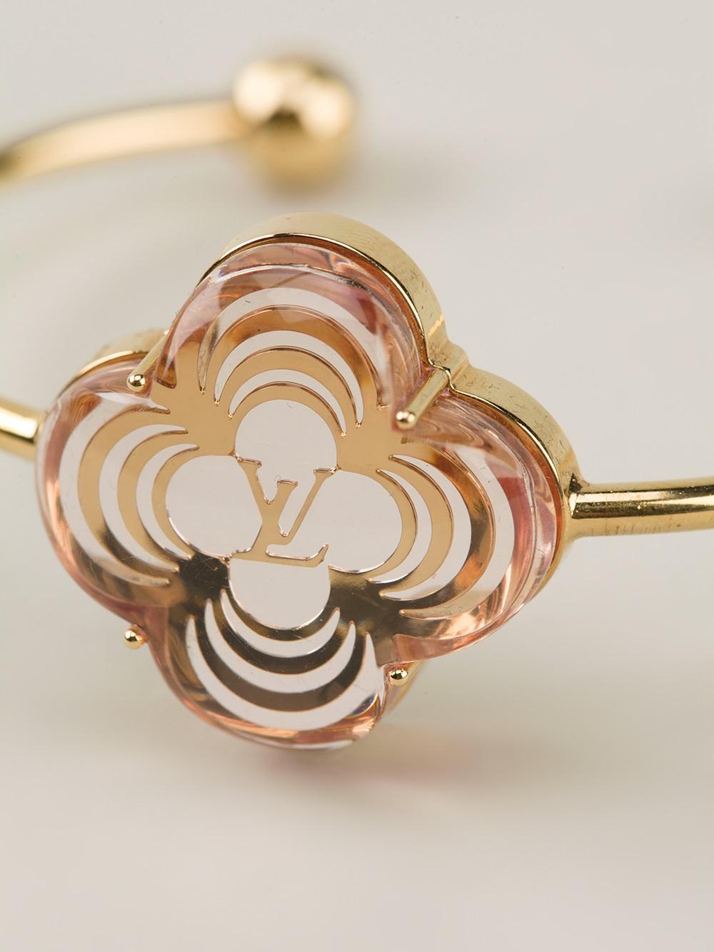 Lyst Louis Vuitton Flower Charm Bracelet In Metallic