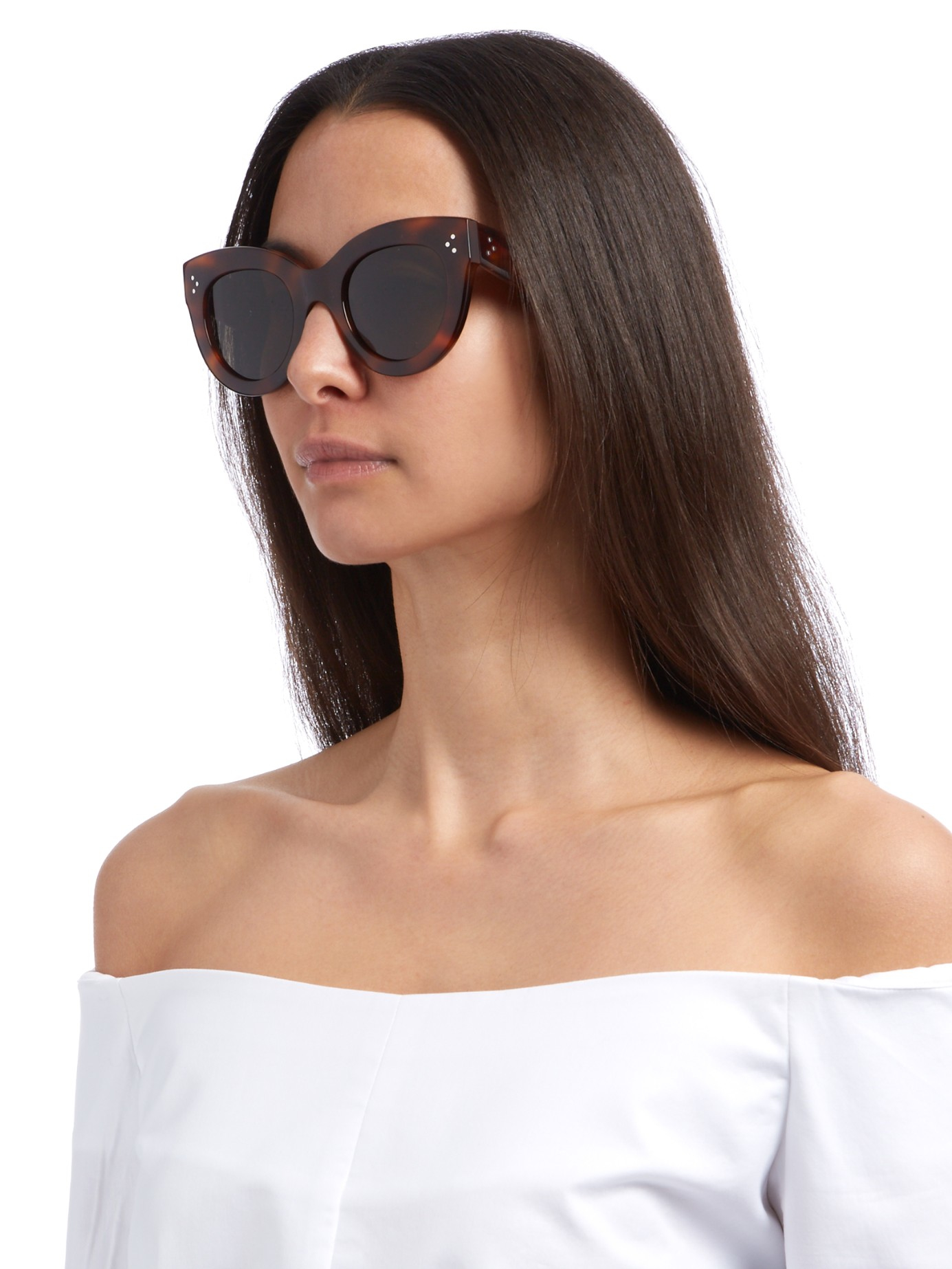 fb9000cf68d2 Céline Eyewear Petra Cat-eye Sunglasses