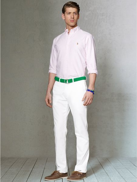 White Chino Mens Chino Pant in White For