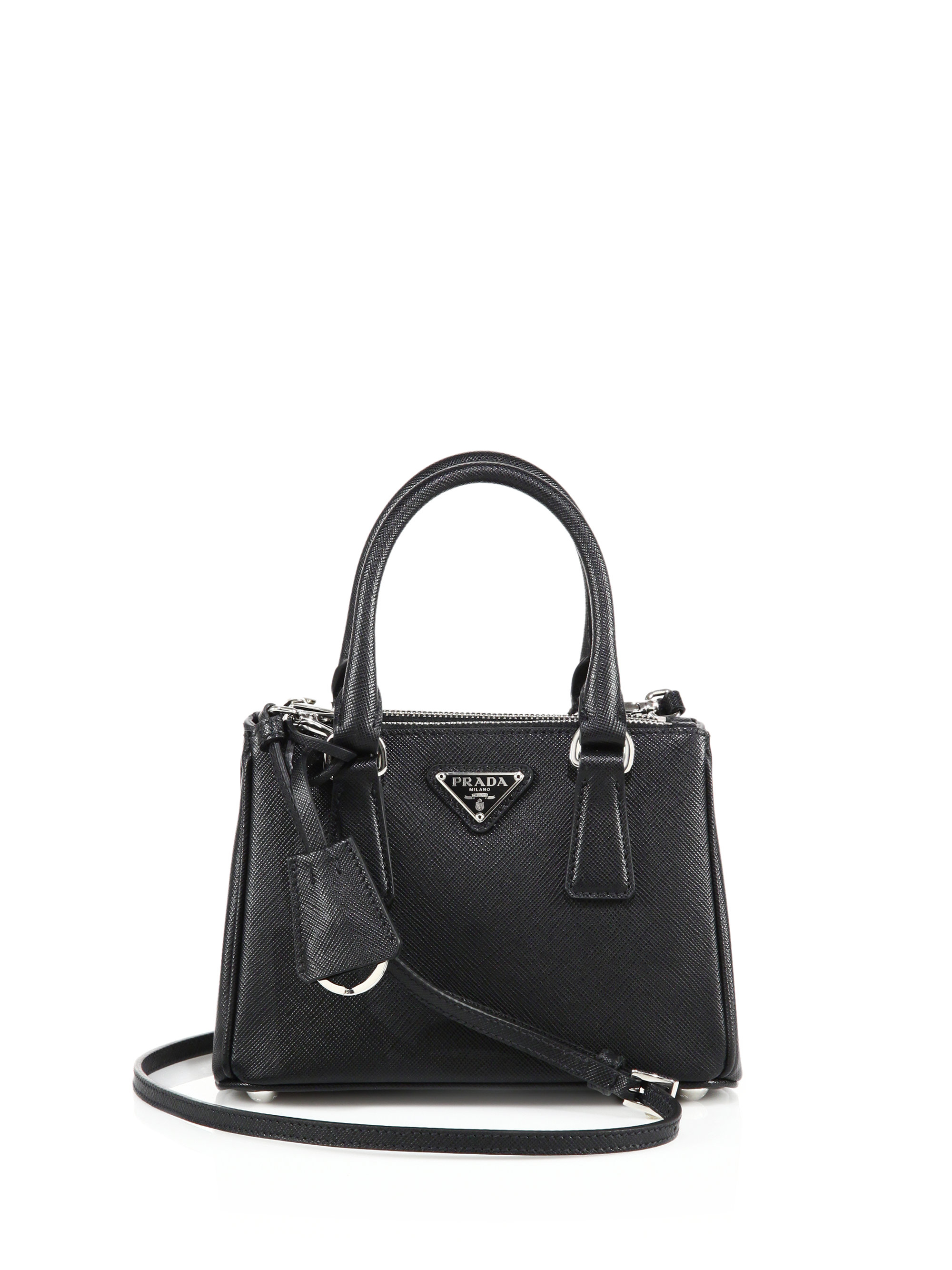 handbag prada - prada mini saffiano leather double-zip tote, authentic pradas for ...