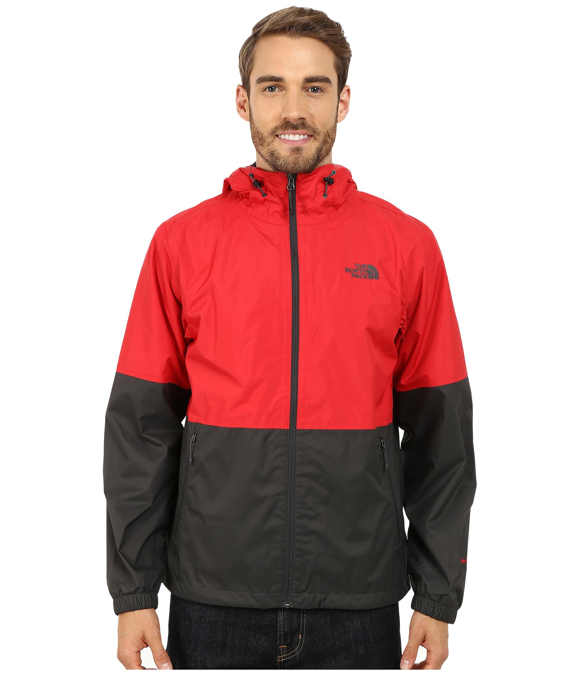 red north face rain jacket mens 57c95e94d