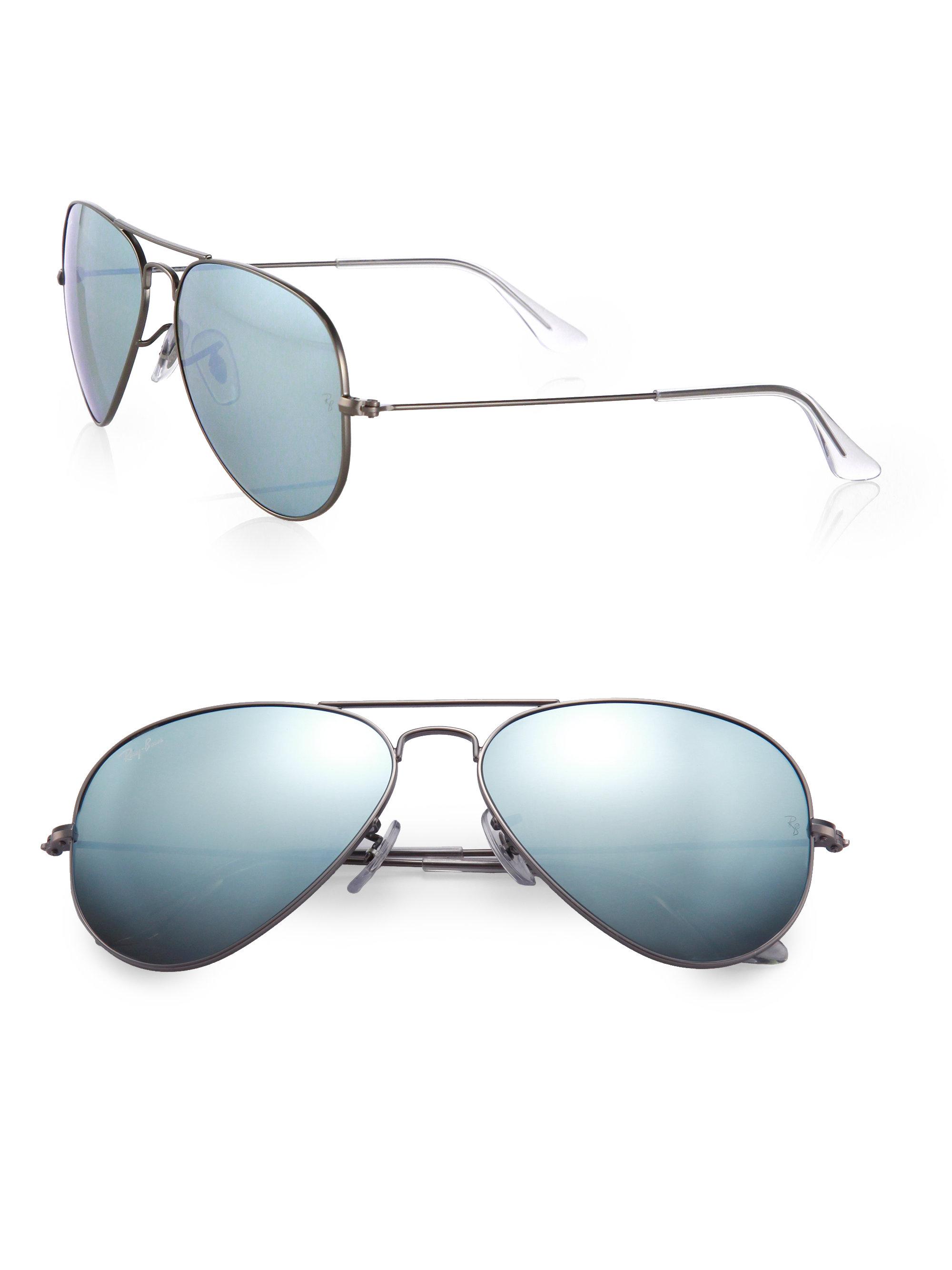849abd3f76b3 Ray Ban Matte Blue Metal Classic Aviator Sunglasses « Heritage Malta