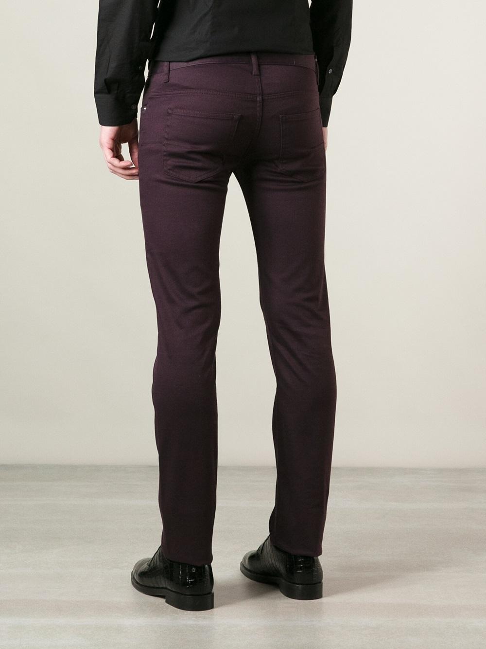 dior homme slim jean in purple for men pink purple lyst. Black Bedroom Furniture Sets. Home Design Ideas